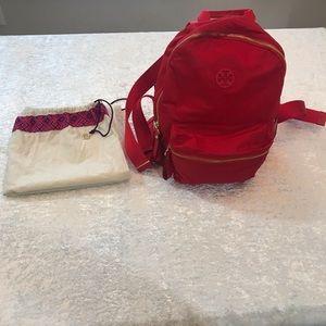 GUC Tory Burch Tilda Nylon Backpack Red